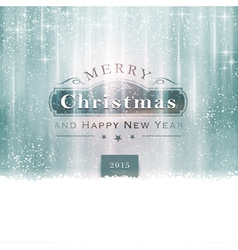 Silver blue christmas typography vector