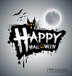 Happy halloween message design vector