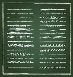Chalk lines vector