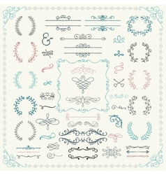 Colorful hand drawn design elements vector