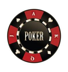 Casino poker chip vector