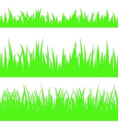 Set of seamless the grass vector