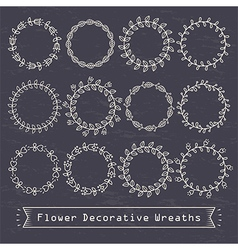 Flower decorative wreaths vector