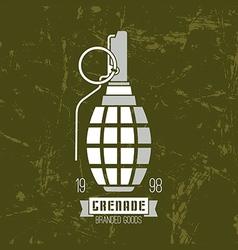 Hand grenade icon vector