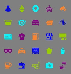 Franchisee business color icons on gray background vector