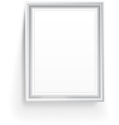 Empty picture frame isolated on white vector