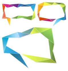 Triangle frames geometric speech bubbles set vector