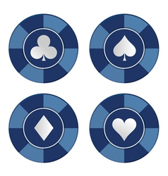Poker chips set vector