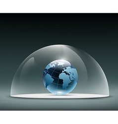 Earth under the dome vector