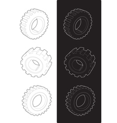 Steel gears vector
