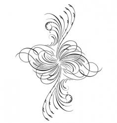 Decorative script vector