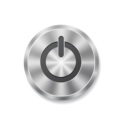 Metal round button on energy vector