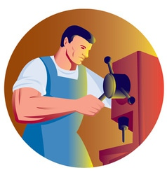 Trade factory worker vector