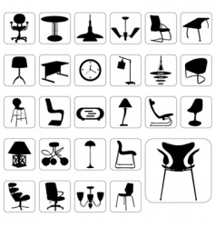 Set of modern furniture vector