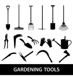 Gardening tools icons eps10 vector
