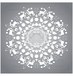Circle ornament round ornamental geometric pattern vector