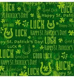 Grunge green background for patricks day vector