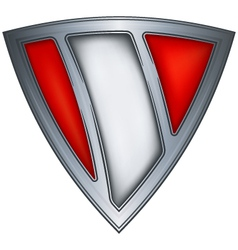 Steel shield with flag peru vector