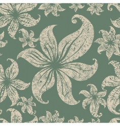 Seamless grunge floral pattern vector