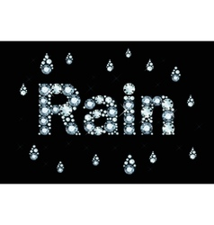 Diamond word rain vector