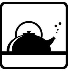 Black kettle silhouette vector