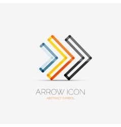 Right arrows company logo business concept vector