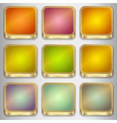 Set of empty buttons vector