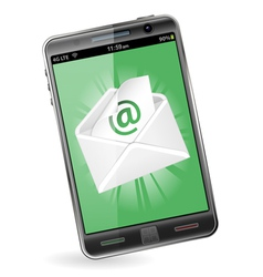 Smart phone with e-mail vector
