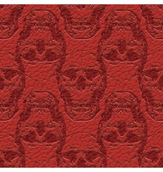 Skulls on leather vector
