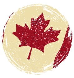 Canadian grunge flag grunge effect can be cleaned vector