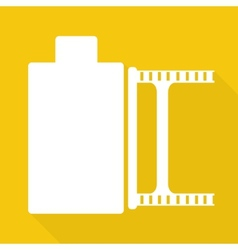 Photo film in cartridge icon vector