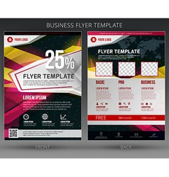 Abstract business flyer brochure template vector