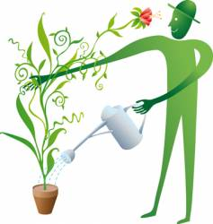 The good gardener vector
