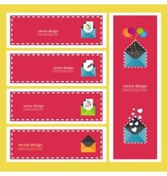 Set of information icons eps vector