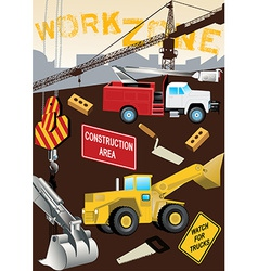 Work zone construction vector