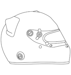 Motor racing helmet vector