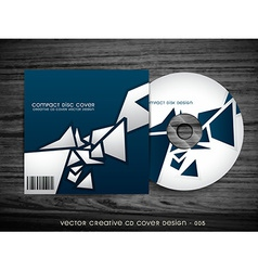 Stylish cd cover design vector