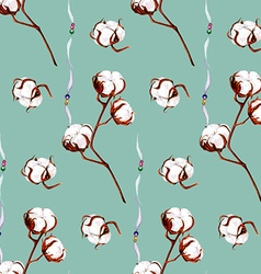 Cotton blue pattern vector