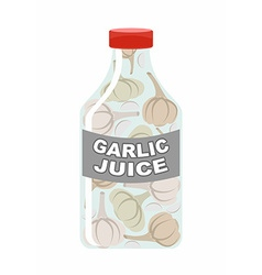 Garlic juice juice from fresh vegetables garlic in vector