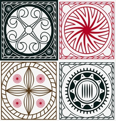 Ornamental indian scuares vector