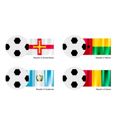 Soccer ball of guinea bissau albania guatemala vector