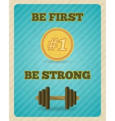 Fitness strength exercise motivation poster vector