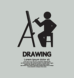 Artist drawing picture symbol vector