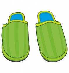 Home slippers vector