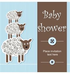 Baby shower - boy vector