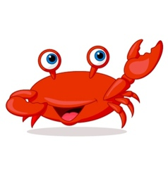Cute crab cartoon vector