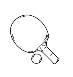 One ping pong racket vector