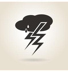 Icon thunderstorm vector