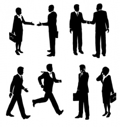 Business people silhouetted vector