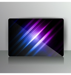 Abstract card with colored lines vector